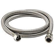 """Flexible tap connector, (Dia)22mm (Dia)¾"""" (L)1500mm"""