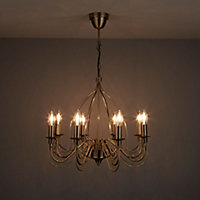 Vas Gold effect 8 Lamp Chandelier Ceiling light