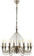 Vas Gold effect 8 Lamp Chandelier Ceiling light
