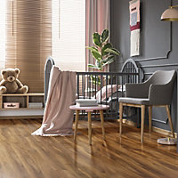 Colours Dolce Natural Walnut effect Laminate flooring, 1.19m² Pack