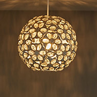 Avril Cream Beaded Light shade (D)250mm
