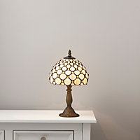 Colours Layla Antique amber effect Halogen Table lamp