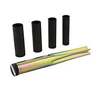 Zinc-coated Plastic & steel Ground spike (L)380mm