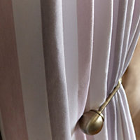 Colours Athena Brass effect Ball Curtain hold back, Pack of 2