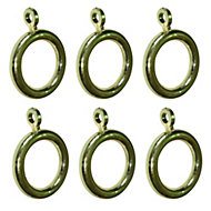 Colours Plastic Curtain ring (Dia)19mm, Pack of 6