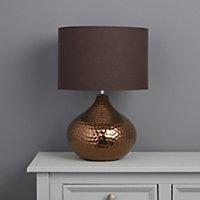 Colours Massilia Matt Bronze effect Incandescent Table lamp