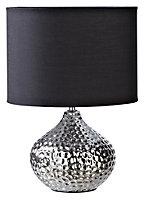 05322190 MASSALIA CERAMIC TABLE LAMP CHROME