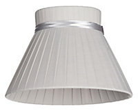 Colours Carme Grey Ribbon Light shade (D)200mm