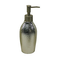Cooke & Lewis Silver Dimpled effect Soap dispenser