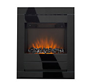Sirocco Cristal Black Glass effect Electric Fire