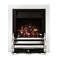 Ignite Fairfield Open Fronted Full depth Chrome effect Gas Fire