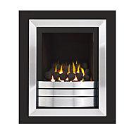 Ignite Easton Portrait High Efficiency Graphite Chrome effect Gas Fire