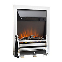 Sirocco Fairfield Black Chrome effect Electric Fire