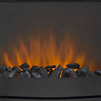 Sirocco Maine LED Remote control Black Electric Fire