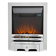 Sirocco Westerly Inset or freestanding Brushed Steel Electric Fire