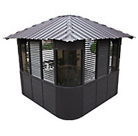 Canadian Spa Frazer Brown Square Gazebo, (W)3.37m (D)3.37m - Assembly service included