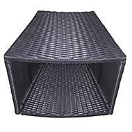Rattan Spa side table