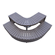 Canadian Spa Brown Rattan Spa corner steps