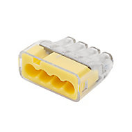 Ideal Yellow 32A In-line wire connector, Pack of 100