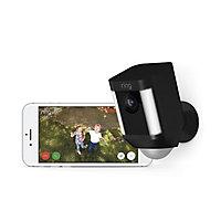 Ring Battery Powered Black Spotlight camera