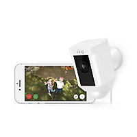 Ring Wired White Spotlight camera