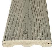 Good life Grey Wood & plastic composite Deck board (L)2.44m (W)134mm (T)24mm