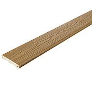 Good life Wood & plastic composite Deck board (L)2.44m (W)134mm (T)24mm