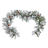 1.83m Frosted Green Christmas garland