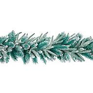 1.8m Bluemont Fir Green & Silver Christmas garland