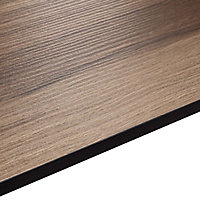 12.5mm Exilis Colorado Wood effect Square edge Solid core laminate Worktop (L)1.5m (D)425mm