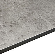 12.5mm Exilis Woodstone Grey Square edge Laminate Worktop (L)2.4m (D)425mm