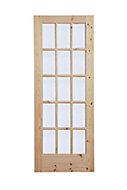 15 Lite Obscure Glazed Knotty pine LH & RH Internal Door, (H)1981mm (W)762mm