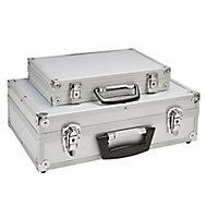 """17"""" Aluminium 1 compartment Tool case set"""