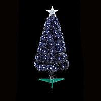 2.5ft Black Fibre optic christmas tree
