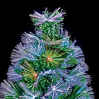 2.5ft Colour changing potted Fibre optic christmas tree