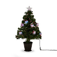 2.5ft Present Fibre optic christmas tree
