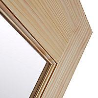 2 panel 1 Lite Glazed Primed Pine Internal French Door set, (H)2020mm (W)1230mm