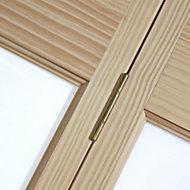 2 panel 2 Lite Frosted Glazed Clear pine Internal Bi-fold Door set, (H)1946mm (W)750mm