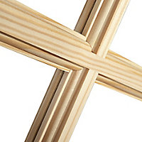 2 panel 6 Lite Glazed Primed Pine Internal French Door set, (H)1981mm (W)579mm