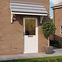 2 panel Glazed Pine veneer LH & RH External Back Door, (H)1981mm (W)762mm
