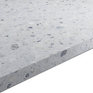 22mm Algiata Matt Grey Stone effect Chipboard & laminate Square edge Kitchen Worktop, (L)3000mm