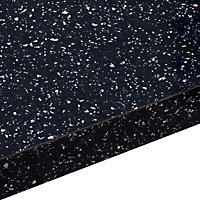 28mm Astral Gloss Black Laminate Bathroom Worktop, (L)2000mm