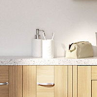 28mm Astral Gloss White Laminate Bullnose Bathroom Worktop, (L)2000mm