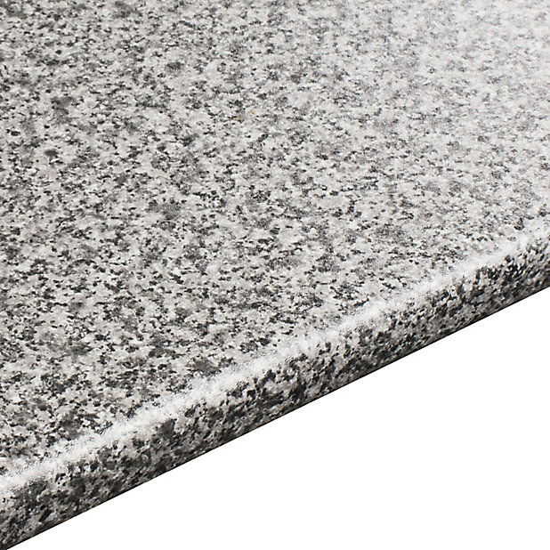 28mm Inari Grey Granite Effect Laminate Round Edge Kitchen Worktop L 3050mm Diy At B Q