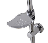 3-spray pattern Chrome Chrome effect Shower riser rail kit