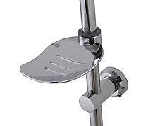3-spray pattern Chrome effect Shower riser rail kit