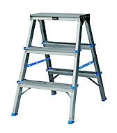 3 tread Aluminium Step Ladder (H)0.65m