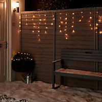 300 Warm white LED Icicle String lights