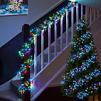 3000 Multicolour LED Cluster String lights Green cable