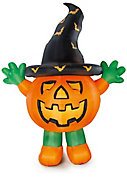 3020mm Pumpkin with hat Inflatable with White LED
